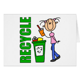 Recycle Kids Gift Greeting Card