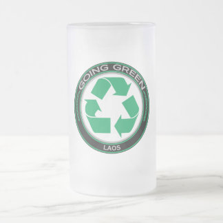 Recycle Laos 16 Oz Frosted Glass Beer Mug