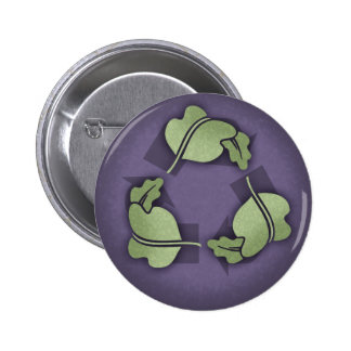 Recycle -Leaves Pinback Buttons