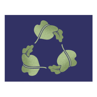 Recycle -Leaves Postcard