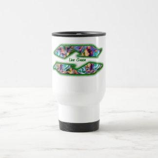 recycle live green travel mug