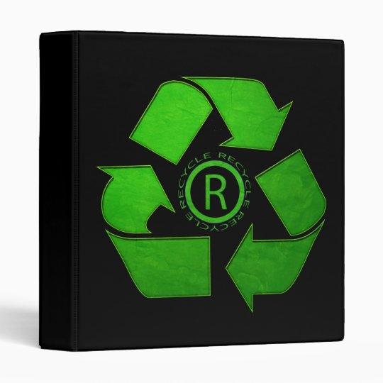 Recycle Logo by Shirley Taylor 3 Ring Binder