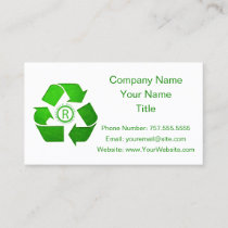 Recycle Logo by Shirley Taylor Business Card