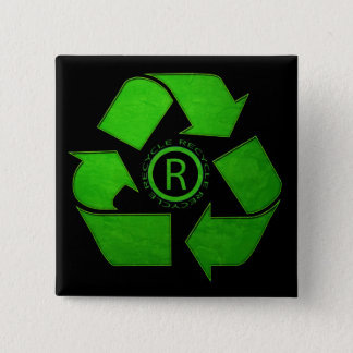 Recycle Logo by Shirley Taylor Button