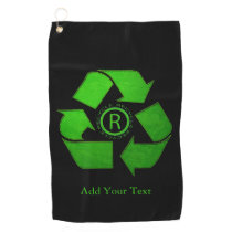 Recycle Logo by Shirley Taylor Golf Towel