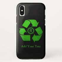 Recycle Logo by Shirley Taylor iPhone X Case