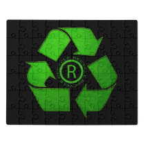 Recycle Logo by Shirley Taylor Jigsaw Puzzle