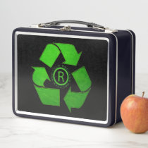 Recycle Logo by Shirley Taylor Metal Lunch Box