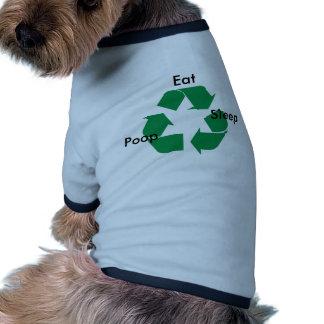 recycle-logo, Eat, Sleep, Poop Doggie T-shirt