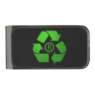 Recycle Logo Gunmetal Finish Money Clip