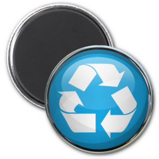 Recycle Logo in Glass & Chrome Magnets