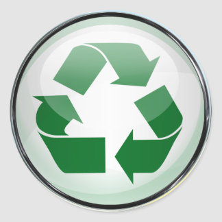 Recycle Logo in Glass set of 6 20 Sticker