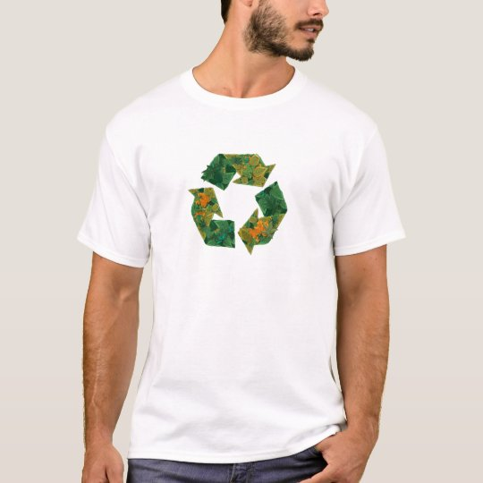Recycle logo made of leaves. T-Shirt