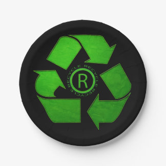 Recycle Logo Paper Plate