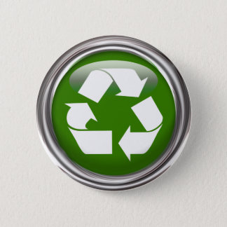Recycle Logo Pinback Button
