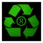 Recycle Logo Print