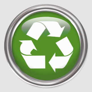 Recycle Logo (set of 6/20) Classic Round Sticker
