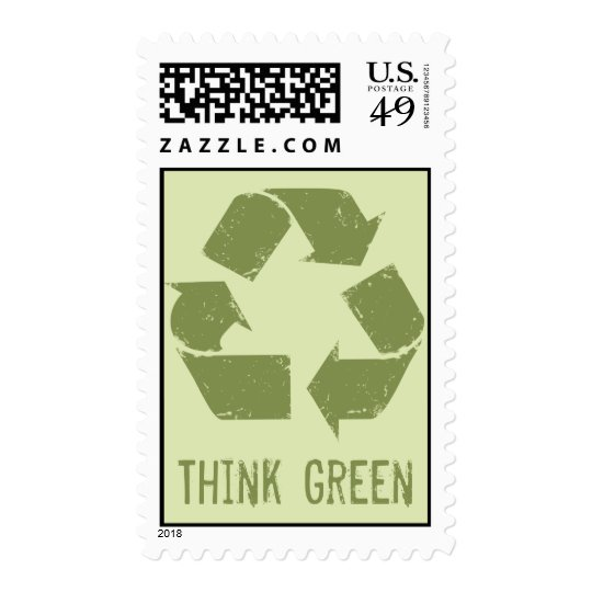 Recycle Logo, Think Green Stamp