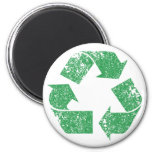 Recycle Logo Vintage Distressed Fridge Magnets