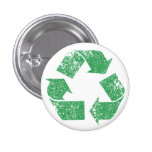 Recycle Logo Vintage Distressed Pinback Button