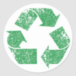 Recycle Logo Vintage Distressed (set of 6/20) Sticker