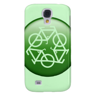 Recycle Logo w/ Bicycles Samsung Galaxy S4 Cover