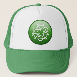 Recycle Logo w/ Bicycles Trucker Hat