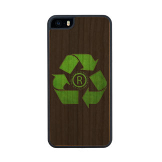 Recycle Logo Carved® Cherry iPhone 5 Slim Case