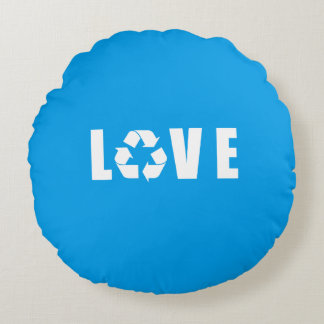 Recycle Love Round Pillow