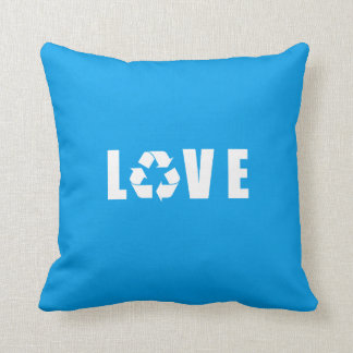Recycle Love Throw Pillow