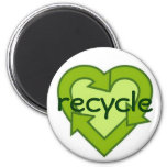 Recycle magnet-green