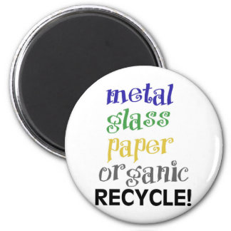 Recycle! Materials list! Magnet