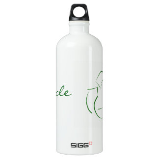 RECYCLE : modern version of the classic image Aluminum Water Bottle
