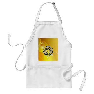 recycle motion of bike and life adult apron