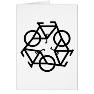 recycle motion of bike and life card