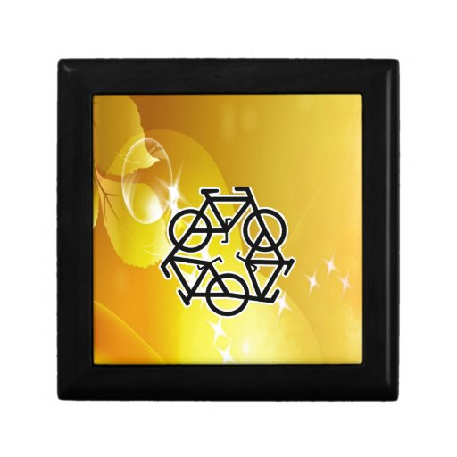 recycle motion of bike and life jewelry boxes