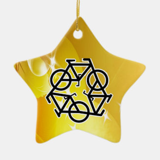 recycle motion of bike and life christmas tree ornament