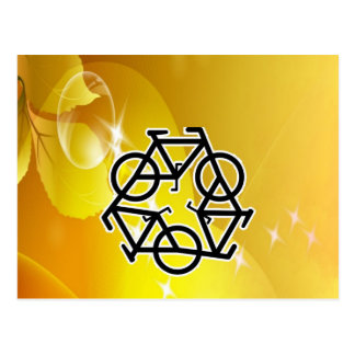 recycle motion of bike and life postcard