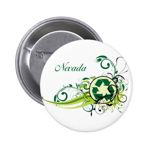 Recycle Nevada Pinback Buttons