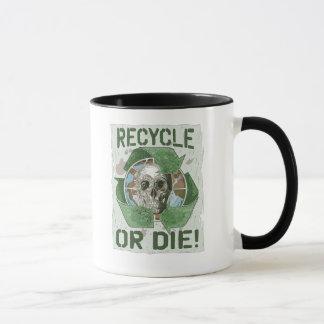 Recycle or Die Skull Mug
