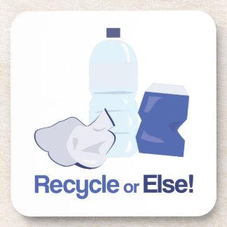 Recycle Or Else Beverage Coasters