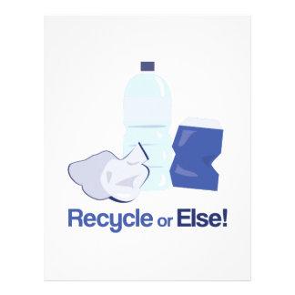 Recycle Or Else Letterhead Design