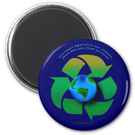 RECYCLE OUR PLANET Series 2 Inch Round Magnet