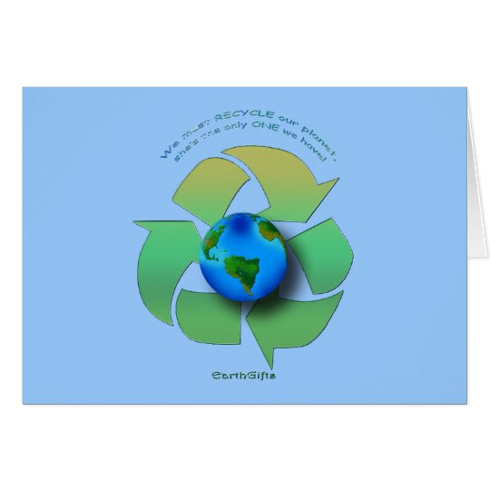 RECYCLE OUR PLANET Series Card