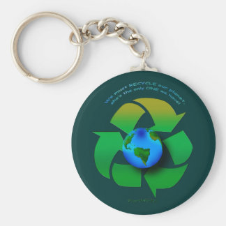 RECYCLE OUR PLANET Series Keychain