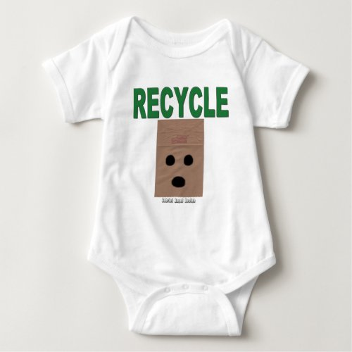 Recycle Paper Bags Baby Bodysuit