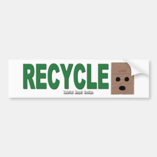 Recycle Paper Bags Bumper Sticker