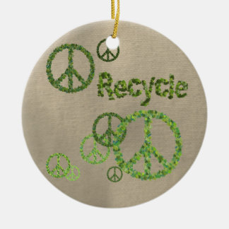 Recycle Peace Sign Ornament