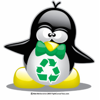 Recycle Penguin Cutout
