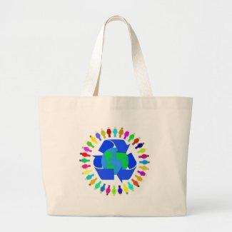 recycle people bag